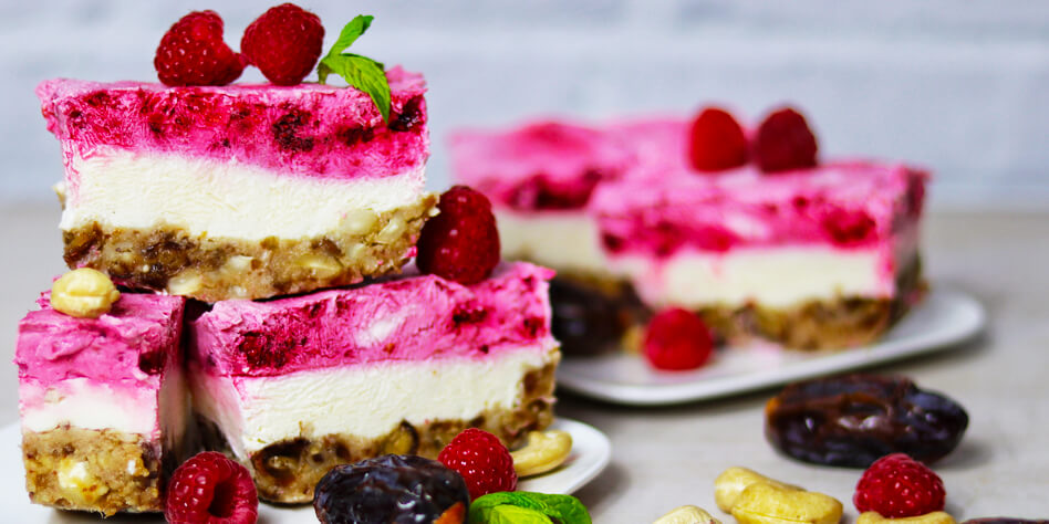 No Bake Himbeer Cheesecake